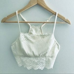 Aerie Ivory Lace Bralette